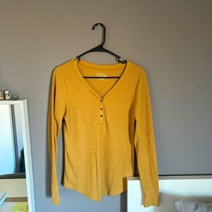 3/$5 Mustard Yellow Henly Top